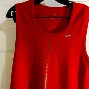Mens Nike Medium Orange/Red Dri-Fit Tank Top
